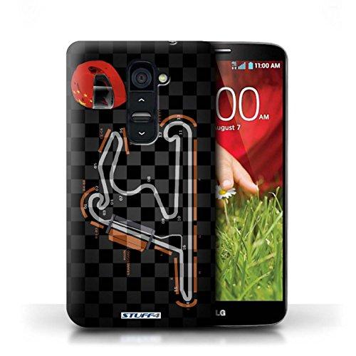 Kobalt® Imprimé Etui / Coque pour LG G2 / USA/Austin conception / Série 2014 F1 Piste Chine/Shanghai