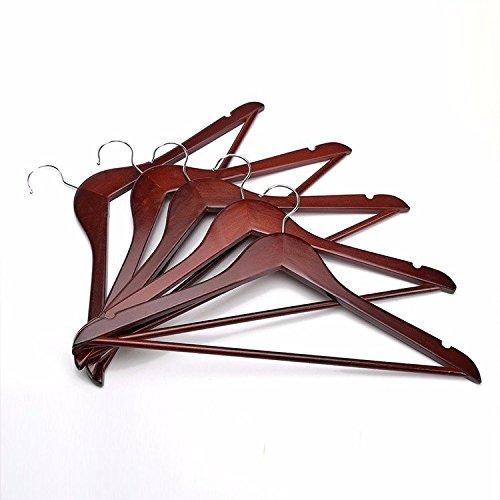 Keshj 10 Stück/Hochwertige Natürliche Mahagoni Kleiderbügel, Mode Speichern Hause Rutschfeste Kleiderbügel, 43Cm (Mahagoni-kleiderbügel)