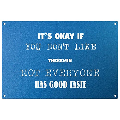 My Personal Product Its Ok If You Don' t Like Theremin-Placca di Metallo Blu-Pronto da Appendere