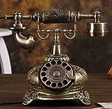 Telefon Continental antikes Telefon Drehscheibe Retro-Mode kreativen Haushalt feste Telefonfestnetztelefon (reguläre Ausgabe, Version Freisprecheinrichtung, eine Freisprecheinrichtung mit Hintergrundbeleuchtung Version, Wählscheibe Version) Verkabeltes Telefon ( Farbe : Regular Edition )