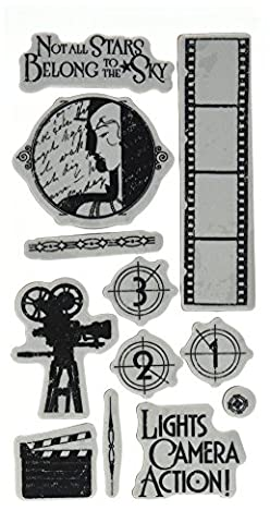 Graphic 45 IC0377S Vintage Hollywood Cling Stamp Set 1 of
