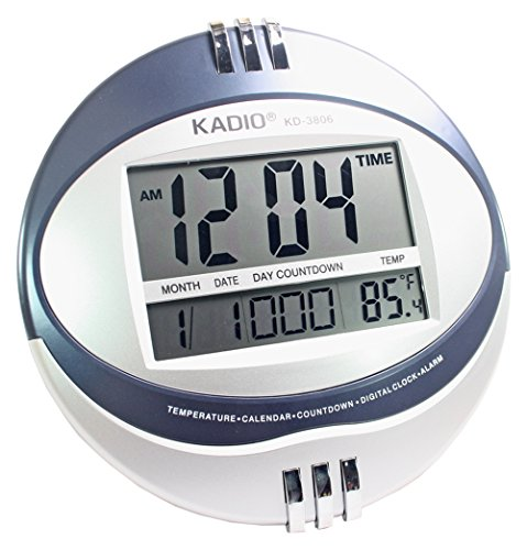 Big Digital Alarm Calendar Thermometer Table Desk Wall Clock Timer - 102  available at amazon for Rs.1299