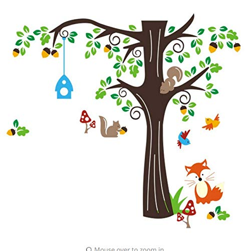 Zybnb Extra Groß Eine Ecke Des Waldes Wand Aufkleber Aufkleber Spielen Unter Großen Baum Wandbild Dekor Poster Zoo Paradise Art
