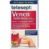tetesept Venen Tabletten extra – Ergänzungsmittel zur Unterstützung der Venenfunktion dank Vitamin C, extra: Vitamin... preisvergleich bei billige-tabletten.eu