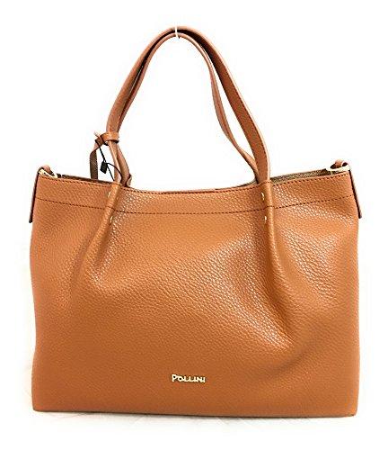 Pollini Bag femme Sacs portés épaule Marron (Cuoio) 34x13x24 cm (B x H x T)
