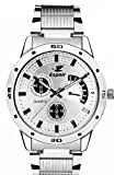 #5: Espoir Analogue White Dial Men's Watch -ES109