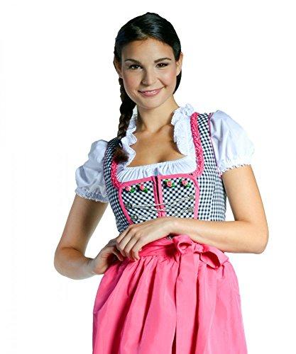 Dirndl Nadine - schwarz/weiss kariert - pink - 32-46, Größe:40