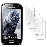 moex 5X Samsung Galaxy Ace 2 | Schutzfolie Klar Display Schutz [Crystal-Clear] Screen Protector Bildschirm Handy-Folie Dünn Displayschutz-Folie für Samsung Galaxy Ace 2 Displayfolie