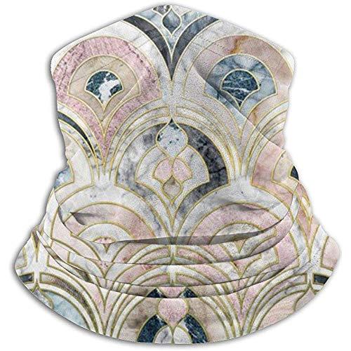 CVDGSAD Art-Deco-Marmorfliesen in Pastelltönen, Nackenschutz, Kopfbedeckung, Gesichtsmaske, Zauberschal, Kopftuch, Sturmhaube, Stirnband