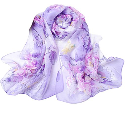 Hot Sale! Kavitoz Fashion Chinese style Lady Long Wrap Women's Shawl Chiffon Scarf Scarves