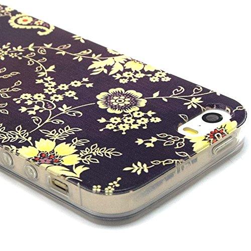Ancerson tasca posteriore per cellulare, in TPU morbido per Apple iPhone 5/5S/5G colorati in pittura ad olio Stil Colorful Painting Back Case Cover Custodia protettiva Custodia 11 10