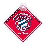 FC Bayern München Autoschild / Schild mit Saugnapf - Rekordmeisterchen on Tour FCB - plus gartis Aufkelber forever München