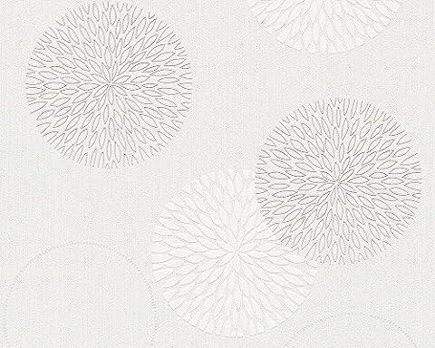 A.S. Création Vliestapete Spot 2, Mustertapete, weiß, 937922