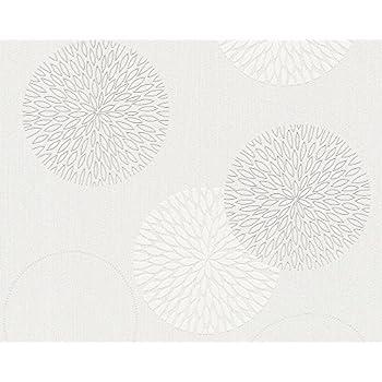 A.S. Création Vliestapete Spot Tapete Natürlich 10,05 M X 0,53 M Creme Weiß  Made In Germany 937922 93792 2