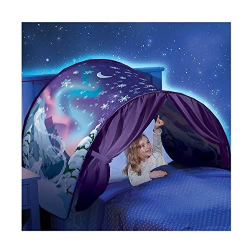 Tente Enfant IntéRieur,Moustiquaire Bebe Princesse Ciel De Lit,Hiver Merveilles Confort Outils De Couchage