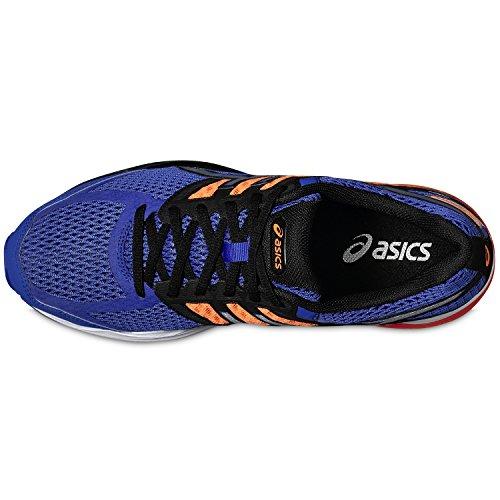 ASICS Scarpe UOMO Gel Kumo 6 T618N Asics Blue /Silver Black AI17 - ASICS BLUE/SILVER/HOT ORANGE