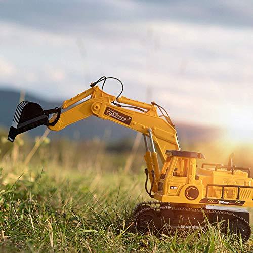 RC Auto kaufen Baufahrzeug Bild 3: New Top Race® 7-Kanal voll funktionsfähiger Bagger, elektrischer Bautraktor mit RC Fernbedienung (TR-111)*