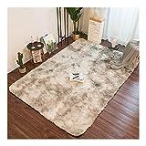 PINGYAO Schlafzimmer Teppich, Rechteck Krawattenplüsch Bettdecke Wohnzimmer Schön Super Weich (Color : Water gray, Size : 0.8 * 1.6M)