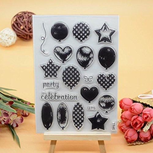 Voller Freude HOME 1DIY Ballon Gummi CLEAR STAMP für Karte machen Dekoration und Scrapbooking