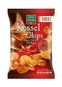 Funny-Frisch Kessel Chips Sweet Chili & Red Pepper, 4er Pack (4 x 120 g)