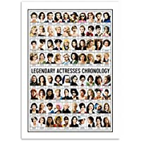 Wall Editions Art-Poster - Legendary Actresses Chronology - Olivier Bourdereau