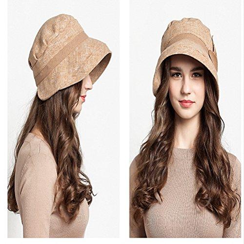 Maitose™ Laine Brim large Chapeau de femmes Beige