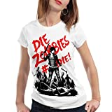 style3 Die Zombie Damen T-Shirt walking horror dixon the halloween dead, Farbe:Weiß;Größe:2XL