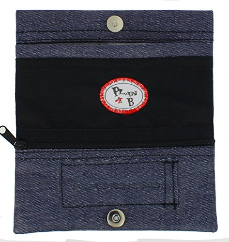 TABACCHIERA Plan B Modello TheOne Jeans- Custodia per tabacco rollato dal design casual, con scompartimenti per bocchini, cartine e trinciatura.