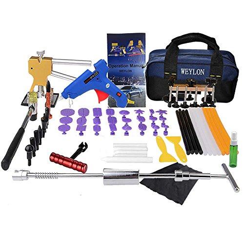 Weylon Paintless Dent-Set attrezzi per rimozione ammaccature per ammaccature Kit di riparazione Ding-danni