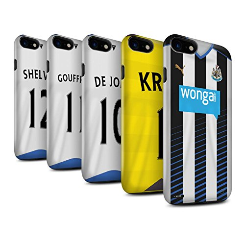 Offiziell Newcastle United FC Hülle / Glanz Harten Stoßfest Case für Apple iPhone 7 / Tioté Muster / NUFC Trikot Home 15/16 Kollektion Pack 29pcs