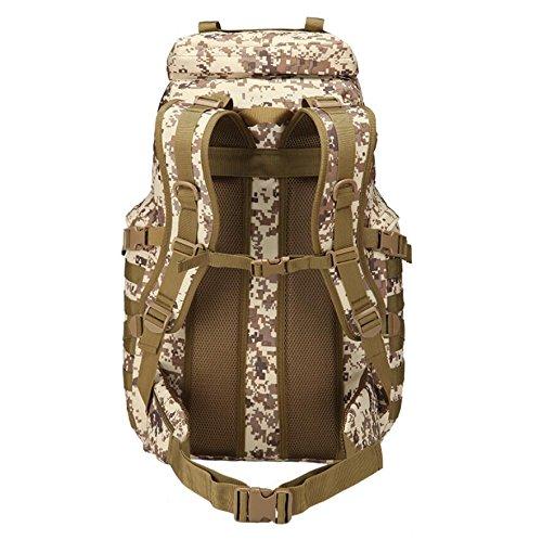 Z&N Outdoor 70L Großraumrucksack taktisches Paket Rucksack Tarn im Freien wasserdicht und langlebig Bergsteigen Tasche Anti-Riss Multifunktions- High-End-Rucksack B
