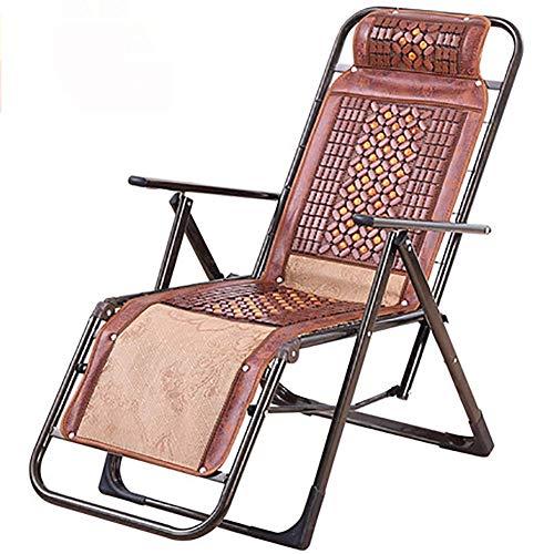 DTTN Outdoor-Zero Gravity Liegestuhl, Verstellbare Armlehnen, Terrasse Stuhl, tragbare Lehnstuhl, B, Vierkantrohre -