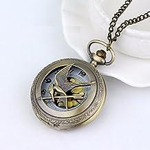 Collar Reloj Sinsajo Los Juegos del Hambre Bronce Regalo Bisuteria