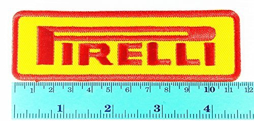 Yellow Pirelli Tires Motorcycles Racing Biker Logo Jacket Patch Sew Iron on  Embroidered Symbol Badge Cloth Sign