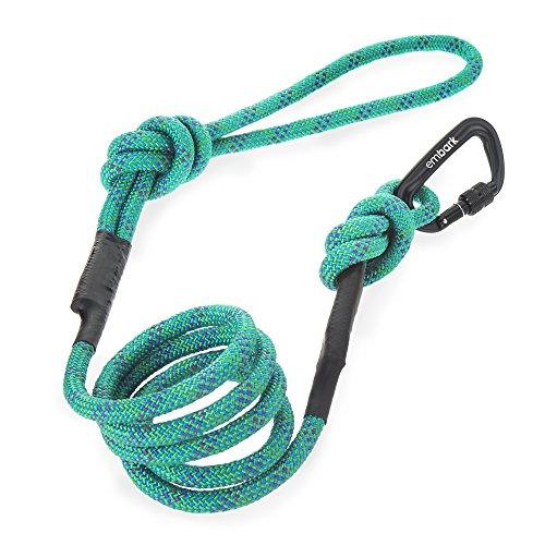 Embark pets sierra guinzaglio con corda da arrampicata e moschettone