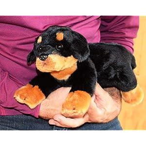 Memorable Pets Welpe Stofftier Rottweiler Puppe für die Person mit normaler Alterung Gedächtnisverlust oder Betreuer