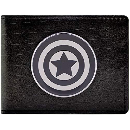 Kostüm Marvel Neue Captain - Marvel Captain America Symbol Schwarz Portemonnaie Geldbörse