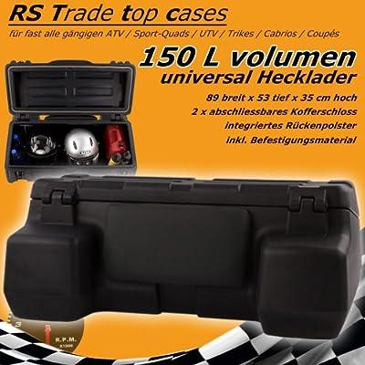 150 L Quad - ATV Universal Transport Koffer aus hochwertigem Kunststoff, abschliessbar und mit Rückenlehne. Inkl. Montagematerial und verstärkter Bodenschale von Unbekannt auf Gartenmöbel von Du und Dein Garten