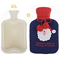 Hieagle Wärmflaschen mit Bezug für Weihnachten Geschenk, 2 Liter, preisvergleich bei billige-tabletten.eu