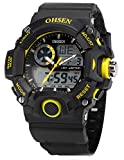 EASTPOLE Dual LCD Anzeige Herren Armbanduhr Quarzuhr mit Armband aus Silikon Sport Uhr OHS217