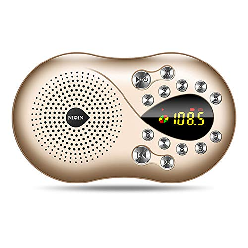 FM Radio, Radio Portable AM FM Radio, Full-Range Radio Radio Old Radio Old Radio Old-Fashioned Mini Speaker Card Speaker Portable Charging Music Player mit Hintergrundlicht 12/24H Time Display