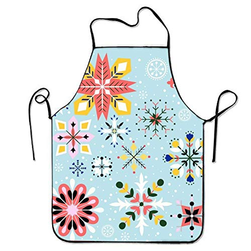ERCGY 2019 Apron Unisex Waterproof Aprons Flower Snow Kitchen Apron for Cooking Gardening Womens Snow Flower