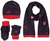 Tommy Hilfiger Herren Mütze, Schal & Handschuh-Set New Born Boy Poppy Giftpack, Blau (Tommy Navy 413), One Size