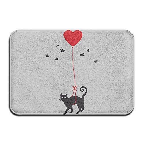 Niguvlpo Funny Crazy Cat Lady Personalisierte Fußmatten Monogramm Fußmatte (Monogramm Womens)