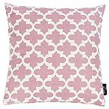 Kissenbezug Windsor Milano mit Motivdruck - Sofa Kissenhülle mit Reißverschluss - 4 Farben - Größe 45x45 cm, Farbe:Milano Old Rose
