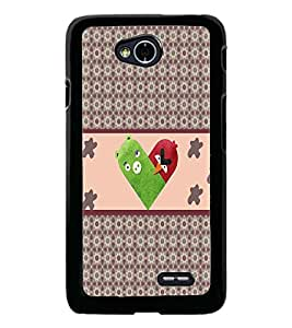 PrintDhaba Heart D-3214 Back Case Cover for LG L90 (Multi-Coloured)