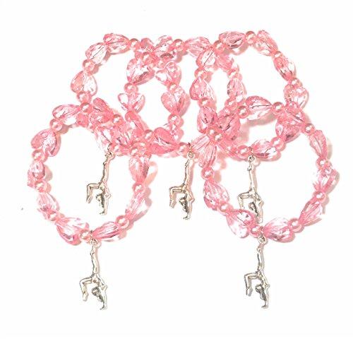 FizzyButton Gifts Set von 5 Gummizug rosa Perlen Turner Armbänder für jüngere Partytüten Mädchen Turner-set