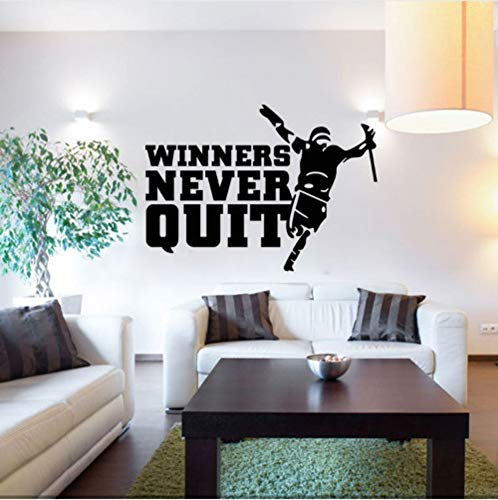 XingMang Gewinner nie aufhören Wand Zitat Aufkleber Aufkleber heißer Verkauf Wand Kunst Wand Dekor Poster kreative Inspiration sagen Wand Applique (Gewinner Nur Möbel)