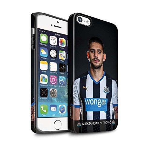 Officiel Newcastle United FC Coque / Matte Robuste Antichoc Etui pour Apple iPhone SE / Pack 25pcs Design / NUFC Joueur Football 15/16 Collection Mitrovic