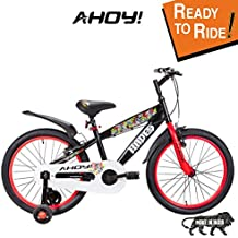 AHOY! Fitted & Ready to Ride Cycle 20 inch Hades for Boys (7 to 10 Years) - Red